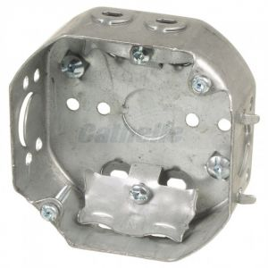 """4"""" OCTAGON BOX w/CABLE CLAMPS"""