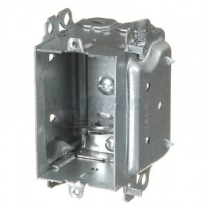 """2-1/2"""" DEEP """"WIDE"""" DEVICE BOX w/ NAILING LOOPS Clamps for armoured cables."""