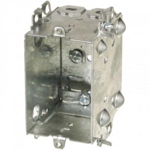 """2-1/2"""" DEEP DEVICE BOX for ARMOURED CABLE"""