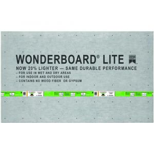 WonderBoard 1/4 X 3 X 5 Cement Backerboard